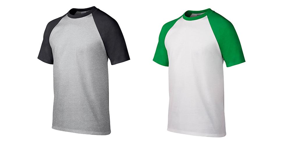 180g插肩袖成人圆领短袖T恤(7色可选)定制印刷图案