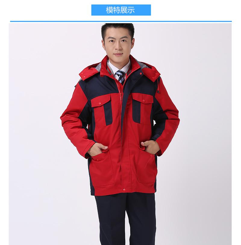 SDLB SD700#防静电内胆一衣三穿涤棉帆布棉服